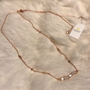"Kendra Scott Kim Rose Gold ""Diamond"" Necklace"